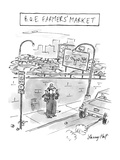 B.Q.E. Farmers' Market - New Yorker Cartoon Premium Giclee Print by Larry Hat