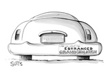 Car with bumper sticker which reads: Ask me about my estranged grandchildr… - New Yorker Cartoon Premium Giclee Print by Julia Suits