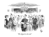 """We slipped in the tub."" - New Yorker Cartoon Premium Giclee Print by Frank Cotham"