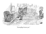 """Camouflage becomes you."" - New Yorker Cartoon Premium Giclee Print by Victoria Roberts"
