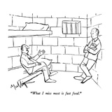 """What I miss most is fast food."" - New Yorker Cartoon Premium Giclee Print by James Mulligan"