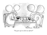 """You grew up in a lab, too, Sylvia"" - New Yorker Cartoon Premium Giclee Print by Victoria Roberts"