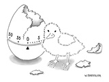 Chick hatched from an egg-shaped timer. - New Yorker Cartoon Premium Giclee Print by Wayne Bressler