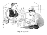 """Why the big nose"" - New Yorker Cartoon Premium Giclee Print by Barry Blitt"
