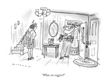"""What, no veggies"" - New Yorker Cartoon Premium Giclee Print by Bill Woodman"