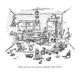"""Have you ever seen a dream walking  Well, I have."" - New Yorker Cartoon Premium Giclee Print by George Booth"