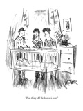 """Poor thing. All she knows is war."" - New Yorker Cartoon Premium Giclee Print by Robert Weber"