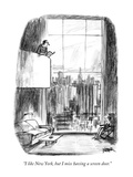 """I like New York, but I miss having a screen door."" - New Yorker Cartoon Premium Giclee Print by Robert Weber"