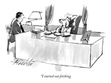 """I started out fetching."" - New Yorker Cartoon Premium Giclee Print by Mischa Richter"
