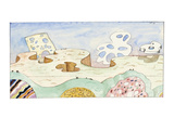 Untitled - New Yorker Cartoon Premium Giclee Print by Saul Steinberg