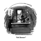 """Ooh!  Bummer!"" - New Yorker Cartoon Premium Giclee Print by George Booth"