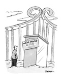 Man entering heaven finds sign on gates that reads, 'We've Moved Visit Us … - New Yorker Cartoon Premium Giclee Print by C. Covert Darbyshire