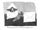 """You're supposed to push your envelope from the inside, Conners!"" - New Yorker Cartoon Premium Giclee Print by Gahan Wilson"