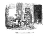 """That was an incredible nap!"" - New Yorker Cartoon Premium Giclee Print by Robert Weber"