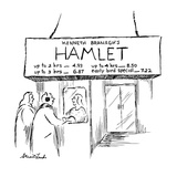"Movie marquee reads ""Kenneth Branagh's Hamlet  up to 2 hrs--4.93, up to 3 … - New Yorker Cartoon Premium Giclee Print by Stuart Leeds"