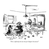 """This is definitely the last time for Chapter Seventeen!"" - New Yorker Cartoon Premium Giclee Print by George Booth"