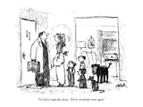 """I've had a rough day, honey.  Tell me everybody's name again."" - New Yorker Cartoon Premium Giclee Print by Robert Weber"