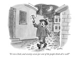 """""""It's ten o'clock, and seventy-seven per cent of the people think all is w…"""" - New Yorker Cartoon Premium Giclee Print by Mike Twohy"""