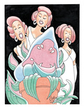"Audrey II and the girl-group trio in ""Little Shop of Horrors,"" - New Yorker Cartoon Premium Giclee Print by Gahan Wilson"