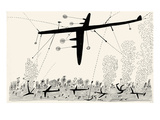 Bombing, South Pacific. - New Yorker Cartoon Premium Giclee Print by Saul Steinberg