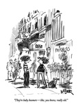 """They're baby boomers—like, you know, really old."" - New Yorker Cartoon Premium Giclee Print by Robert Weber"