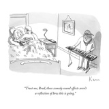 """Trust me, Brad, those comedy sound effects aren't a reflection of how thi…"" - New Yorker Cartoon Premium Giclee Print by Zachary Kanin"