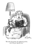 """""""But when she got there, the cupboard was bare, and so the poor dog had no…"""" - New Yorker Cartoon Premium Giclee Print by Mike Twohy"""