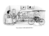 """I just dialed 1-800-BAGUETTE."" - New Yorker Cartoon Premium Giclee Print by Victoria Roberts"