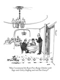 """May I recommend the Roast Free-Range Chicken with Sage-and-Celery Stuffin…"" - New Yorker Cartoon Premium Giclee Print by George Booth"