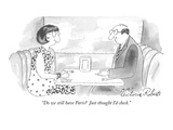 """Do we still have Paris Just thought I'd check."" - New Yorker Cartoon Premium Giclee Print by Victoria Roberts"