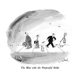 The Man with the Purposeful Stride - New Yorker Cartoon Premium Giclee Print by W.B. Park