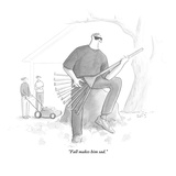 """Fall makes him sad."" - New Yorker Cartoon Premium Giclee Print by Julia Suits"