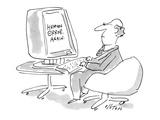 Man's computer screen gives him the message, 'Human Error. Again.' - New Yorker Cartoon Premium Giclee Print by Dean Vietor