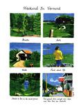 Weekend In Vermont - New Yorker Cartoon Premium Giclee Print by Huguette Martel