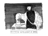 ARISTOTLE WITH A BUST OF HOMER: - New Yorker Cartoon Premium Giclee Print by Michael Crawford