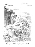"""Someday man will find a peaceful use for my machines."" - New Yorker Cartoon Premium Giclee Print by Bill Woodman"