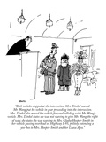 """Both vehicles stopped at the intersection. Mrs. Dinkel waved. Mr. Wang pu…"" - New Yorker Cartoon Premium Giclee Print by George Booth"