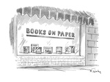 Books On Paper' - New Yorker Cartoon Premium Giclee Print by Mike Twohy