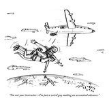"""I'm not your instructor—I'm just a weird guy making an unwanted advance."" - New Yorker Cartoon Premium Giclee Print by Farley Katz"