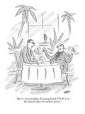 """But in my screenplay, the young female P.O.W. is in the shower when her r…"" - New Yorker Cartoon Premium Giclee Print by Kim Warp"