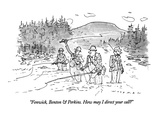 """Fenwick, Benton & Perkins. How may I direct your call"" - New Yorker Cartoon Premium Giclee Print by Bill Woodman"