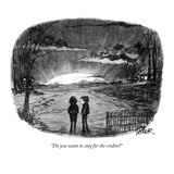 """Do you want to stay for the credits"" - New Yorker Cartoon Premium Giclee Print by Robert Weber"