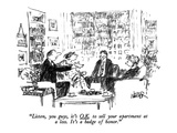 """Listen, you guys, it's O.K. to sell your apartment at a loss.  It's a bad…"" - New Yorker Cartoon Premium Giclee Print by Robert Weber"