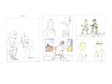 Montage of unusual couples. - New Yorker Cartoon Premium Giclee Print by Saul Steinberg