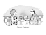 """I converse. You declaim. - New Yorker Cartoon Premium Giclee Print by Victoria Roberts"