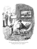 """I've just married your uncle Leonard, and I'm looking forward to your sup…"" - New Yorker Cartoon Premium Giclee Print by Robert Weber"
