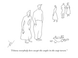 """I know everybody here except the couple in the soup tureen."" - New Yorker Cartoon Premium Giclee Print by Erik Hilgerdt"