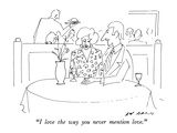 """I love the way you never mention love."" - New Yorker Cartoon Premium Giclee Print by Ed Arno"