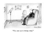 """You came up in therapy today."" - New Yorker Cartoon Premium Giclee Print by Victoria Roberts"