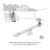 """Apparently, Philip and his imaginary playmate are more or less the same w…"" - New Yorker Cartoon Premium Giclee Print by Gahan Wilson"